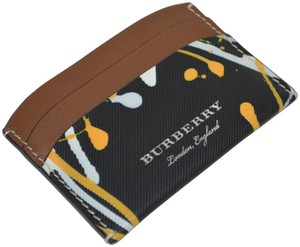 Burberry NWT BURBERRY MULTICOLOUR TRENCH LEATHER SPLASH IZZY CARD CASE WALLET