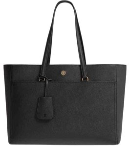 Tory Burch 5 Slip Pockets Front Pocket Tote in Black