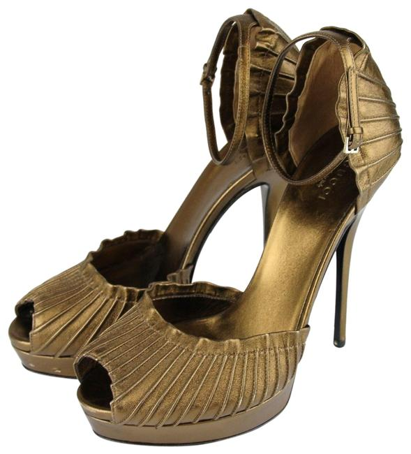 Item - Bronze W Taryn Platform Sandal W/Strap 39/9 283462 Pumps Size US 9 Regular (M, B)
