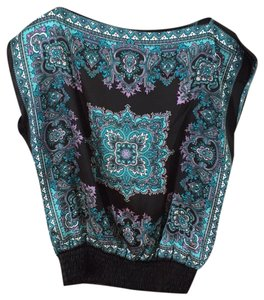 Soulmates Top Black and turquoise
