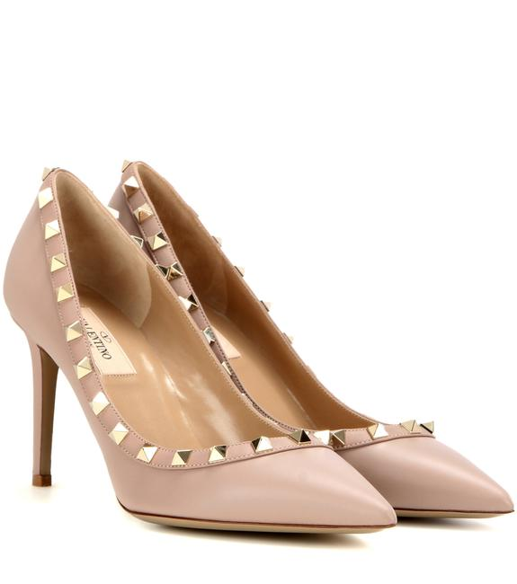 Item - Nude Classic Rockstud Court Matte Poudre Leather 85mm Embellished Point-toe Pumps Size EU 40 (Approx. US 10) Regular (M, B)