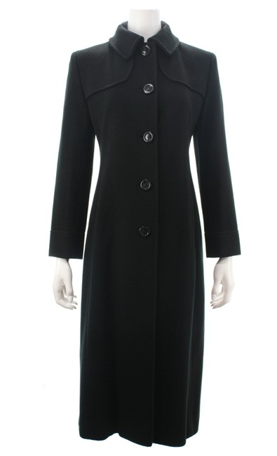 Item - Black Cashmere Button Up Small Coat Size 4 (S)