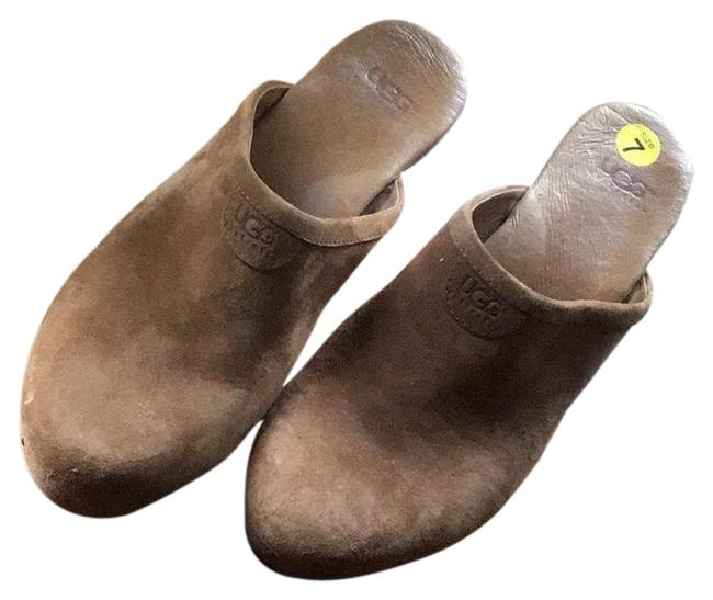 Item - Dark Tan S/N 5772 Mules/Slides Size US 7 Regular (M, B)