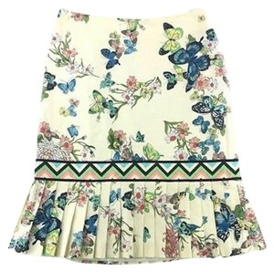 Tibi Butterfly Pleated Floral Skirt Multicolor