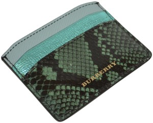 Burberry NWT BURBERRY MULTICOLOUR WATERSNAKE LEATHER BORDERS IZZY CARD WALLET