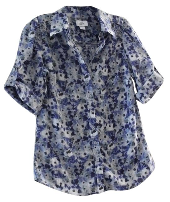 Ann Taylor LOFT Button Down Shirt Blue