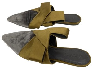 Mercedes Castillo Silver and Gold Mules