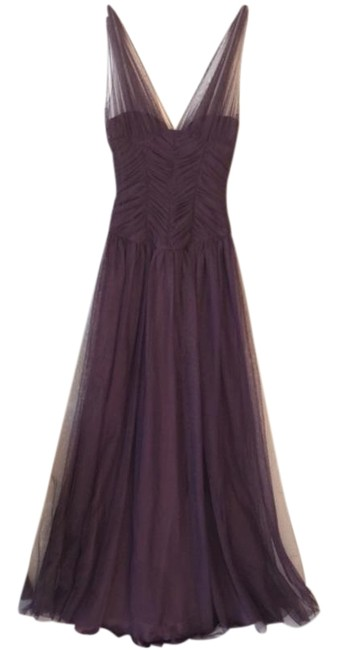 Plum Ball Gown Long Formal Dress