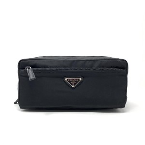 Prada Prada Nylon Toiletry Bag in Black