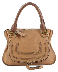 Chloé Leather Satchel in Brown, Neutral