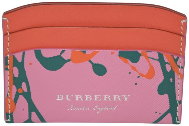 Item - Pink / Orange / Red Multicolour Watersnake Leather Borders Izzy Card Wallet