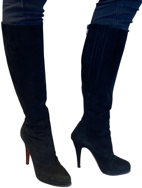 Item - Black Suede Knee-high Boots/Booties Size US 7 Narrow (Aa, N)