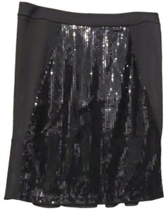 Victor Alfaro Sequin New With Tags Skirt Black