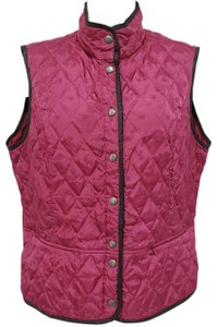 Eddie Bauer Down Quilted Purple Vest