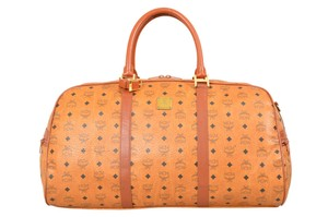 MCM Visetos Visetos Monogram Cognac-brown Travel Bag