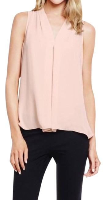 Item - Pink Pleat Front V-neck Blouse Size 4 (S)