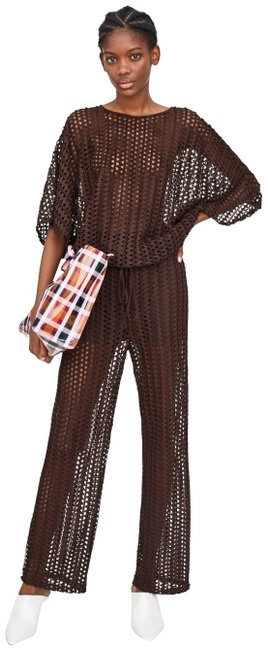 Item - Brown With Mesh Detailing Pants Size 8 (M, 29, 30)