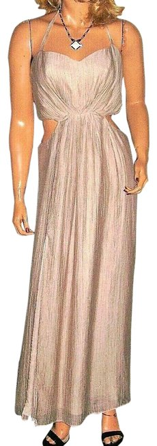 Item - Beige Halter Long Casual Maxi Dress Size 10 (M)