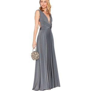 Twobirds Charcoal Classic Convertible Gown In Formal Bridesmaid/Mob Dress Size OS (one size)