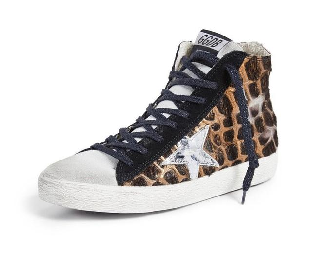 Item - Francy Distressed Calf Hair and Suede High-top Sneakers Size EU 37 (Approx. US 7) Regular (M, B)