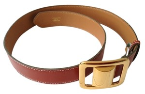 Hermès Hermes belt with gold buckle