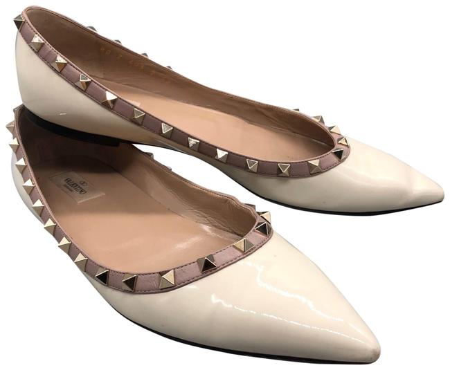 Item - White Rockstud Ballet Flats Size US 12 Regular (M, B)