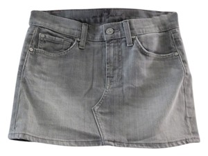 7 For All Mankind Mini Skirt Grey denim