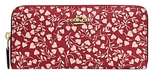 Coach Coach BOXED SLIM ACCORDION ZIP WALLET WITH LOVE LEAF PRINT 27111B