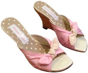 Christian Lacroix pink Wedges