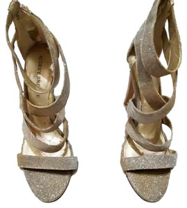 Audrey Brooke Women Heels Gold Silver Sandals