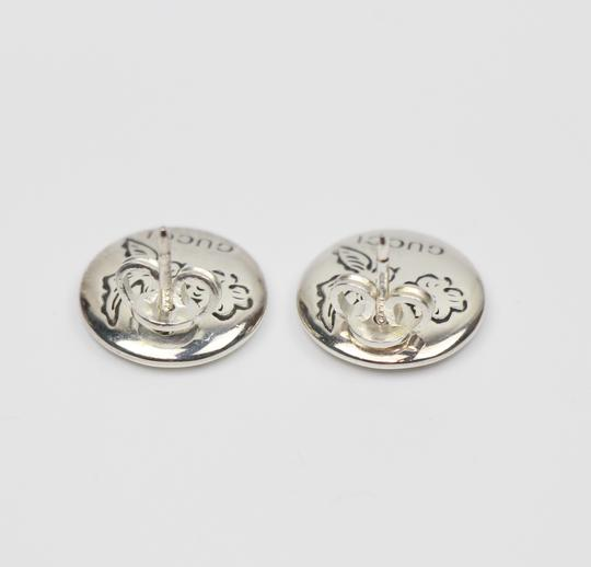 Gucci NEW GUCCI 455256 Sterling Silver Blind For Love Round Earrings Image 3
