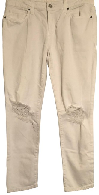 Item - White Distressed Ripped Skinny Jeans Size 8 (M, 29, 30)
