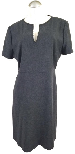Item - Gray Made In Italy Mid-length Work/Office Dress Size 14 (L)