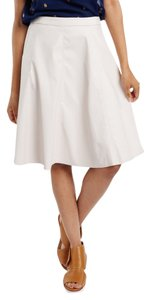 Anthropologie Faux Leather Leather Vegan Skirt IVORY
