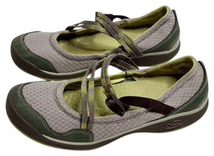 Chaco Mary Jane Comfortable Slip On Casual Comfort Green Flats
