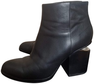 Alexander Wang Leather Cow Hide Chunky Heel black Boots