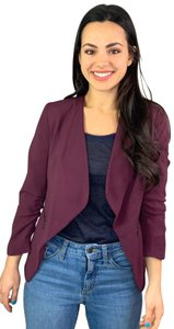 Apt. 9 Open Front Ruched Sleeves Purple Blazer
