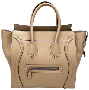 Céline Mini Luggage Luxury Designer Tote in Taupe