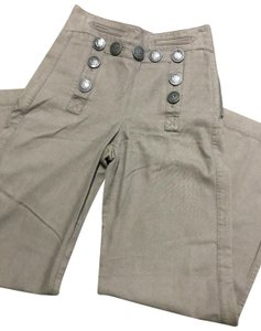 L.A.M.B. High Waist Sialor Wide Leg Pants Military Green