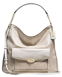 Coach Madison Handbag Op Art Hobo Bag