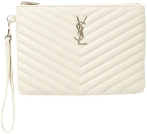Saint Laurent Lou Purse Tote Wristlet in off white