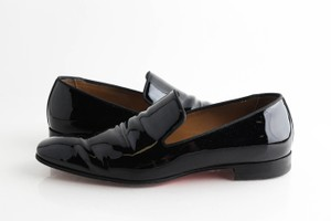 Christian Louboutin Black Dandelion Patent Leather Loafers Shoes