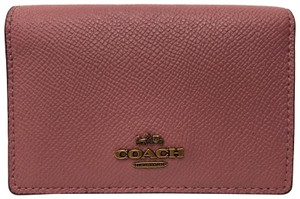Coach Grained Leather Business Card Case