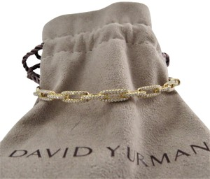 David Yurman 18k Stax 4mm Chain Link w/Diamonds, Medium