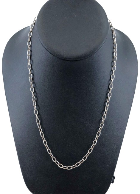 Item - Silver Italy 950 Open Link Chain 18 Inches 8.9 Grams Necklace