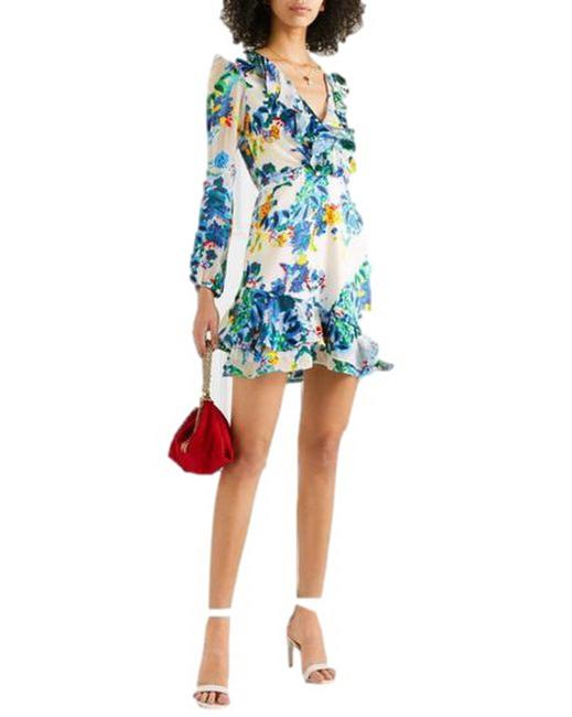 Item - Multicolor Jodie Floral Silk Chiffon Short Cocktail Dress Size 0 (XS)