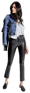 McGuire Cropped Bootcut Vegan Leather Faux Leather Flare Leg Jeans