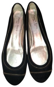 Taryn Rose Black and Gold Flats