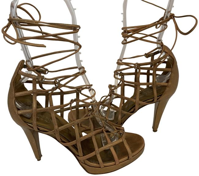 Item - Gold 128120 Strappy Gladiator Leather Sandals Booties38.5 Boots/Booties Size EU 38.5 (Approx. US 8.5) Regular (M, B)