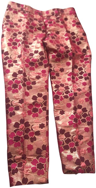 Item - Gold/Fuscia and Burgundy Dolce & Gabbana Made In Italy 42. Fab Pants Size 8 (M, 29, 30)